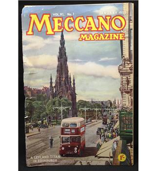 Complete Volume 40, 12 Copies Meccano Magazine 1955
