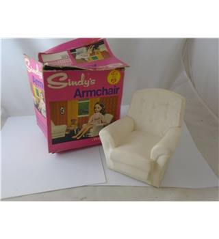 Vintage Sindy White Armchair Pedigree