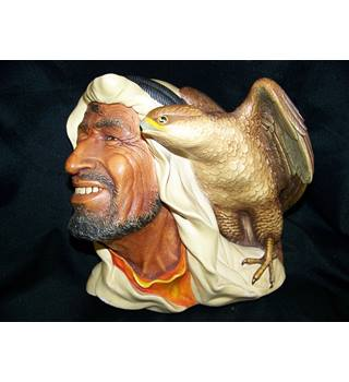 Bossons Chalkware decorative wall heads - Desert Hawks - Arab with falcon