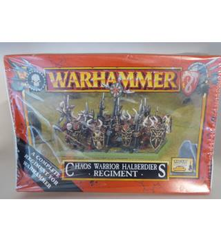 Warhammer Chaos Warrior Halberdiers Regiment Games Workshop