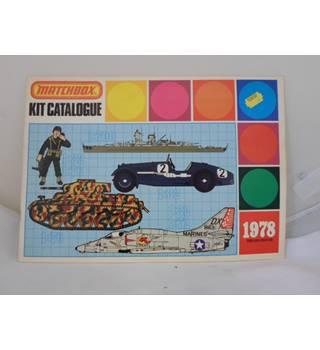 Matchbox Kit catalogue 1978 Matchbox