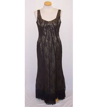 Veni Infantino - Size: S - Black lace evening dress