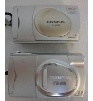 Image of 2 OLYPUS DIGITAL CAMERAS.