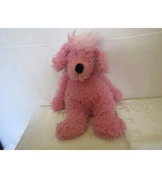 Jellycat Bunglie Pink Poodle Dog retired in 2008 Jellycat