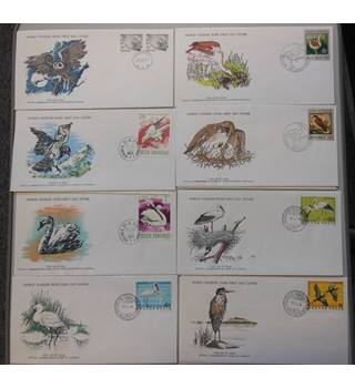 WWF 8 FDCs featuring Birds selection A