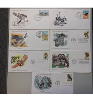 WWF 7 FDCs featuring Birds selection C