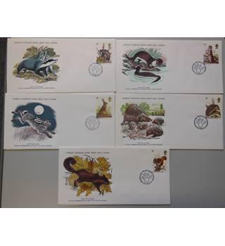 GB WWF Small Mammals set of 5 FDCs