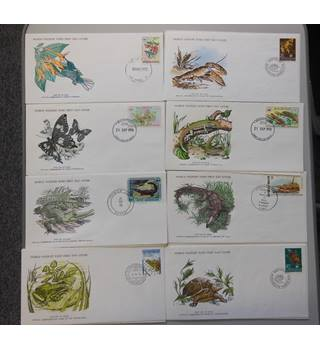 WWF 8 FDCs featuring various animals