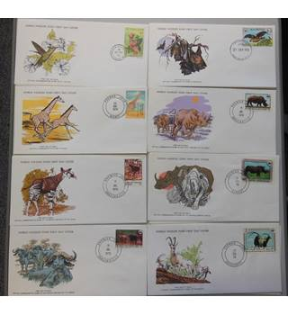 WWF 8 FDCs featuring Mammals selection E