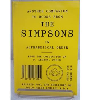Another Companion To Books From The Simpsons - Rare copy