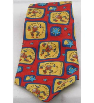 Bang on the Door novelty red and yellow tie