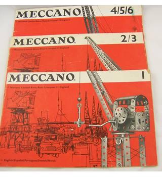 Meccano 1; 2/3; 4/5/6; Three Booklets