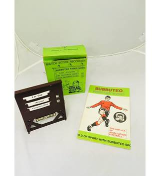 Vintage 1960/70\'s Subbuteo Match Score Recorder with Subbuteo price list 1970-71