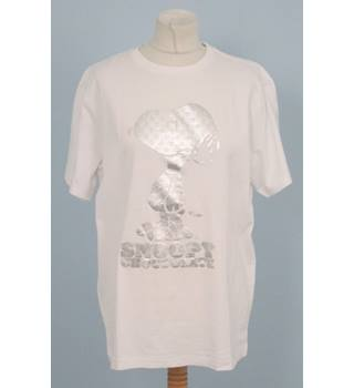 Black Chocolate - Size: M - White - Snoopy T-Shirt