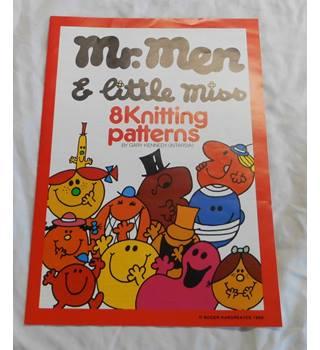 Mr Men & little miss 8 Knitting Patterns - Intarsia