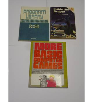 COMPUTER GAMES - DRAGON PC - CASIO PC MANUALS - ARCADE GAMES - PROGRAMMING