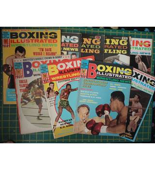 ALI - COOPER - LISTON - BOXING ILLUSTRATED WRESTLING NEWS