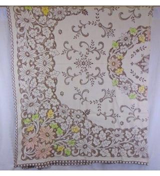 Large openwork vintage table cloth
