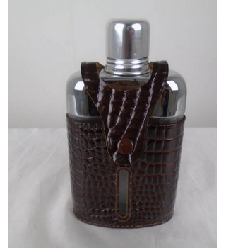 Glass Leather Flask by Real Hide