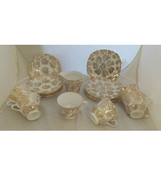 Bone China Vale Teacups Saucers and Side Plates