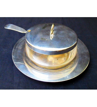 Cross Arrows Silver Plated Sugar Dish
