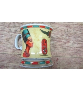 Egyptian - Fathi Mahmoud - Pharoah Mug / Cup - Pate et email Limoge