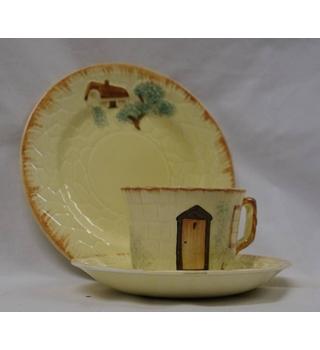 Keele Street Pottery cottage ware, Tea cup saucer and tea plate