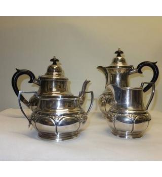 Antique Silver Plate Thomas Wilkinson Pelican Works 4 Piece Tea Service