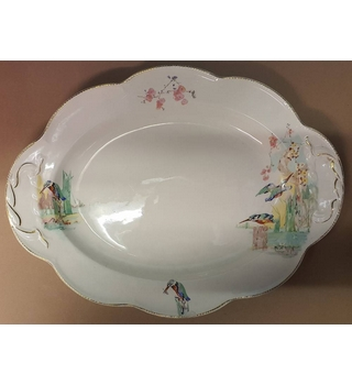 J & G Meakin Large Dish Decorated With Paintings Of Birds