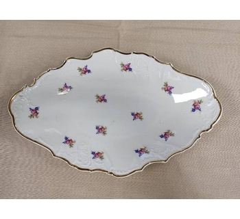 Bernadotte Decorative Bowl With Flowers And Gold Edge