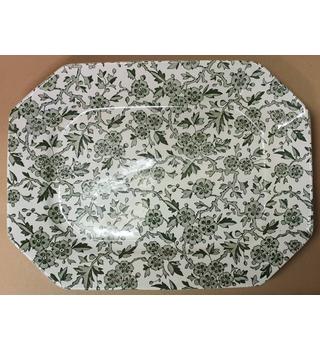 Arden Burleigh (Staffordshire) Green Flower Pattern Plate